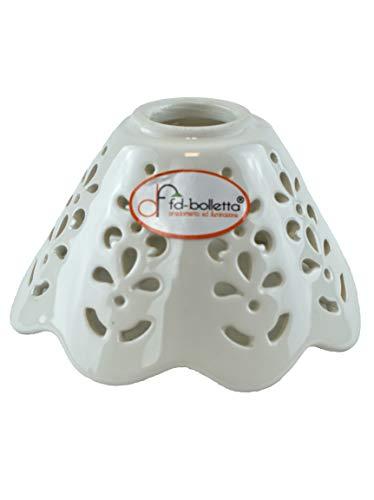 fd-bolletta arredamento e illuminazione Pantalla para lámpara, cristal de repuesto para lámpara de araña vf15. Medidas: 7,5 cm de altura, 13,5 cm de diámetro, diámetro exterior de la boquilla: 4,5 cm.