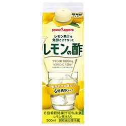 ポッカサッポロ レモン果汁を発酵させて作ったレモンの酢 500ml紙パック×6本入×(2ケース)