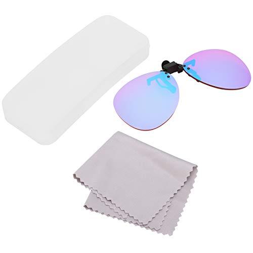 VGEBY Farbkorrekturgläser, Beschichtung Farbblinde Brillen Runde Rot-Grün Blindheit Korrekturgläser für Männer und Frauen