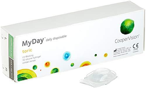 MYDAY Daily disposable Torisch Tageslinsen weich, 30 Stück / BC 8.6 mm / Dia 14.5 mm / CYL -1,75 / ACHSE 180 / -0.25 Dioptrien