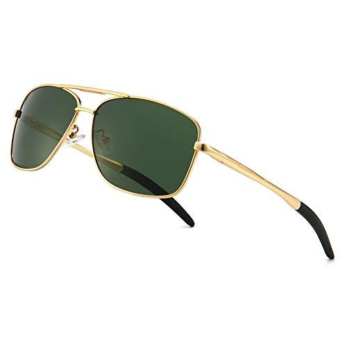ELSA /& ANNA/® Flip-up Unisex Hombre Mujer Polarizado Clip en Las Gafas de Sol VF-GLS03 Verde