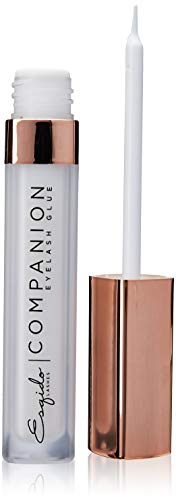 Companion Eyelash Glue - Dries Clear, Latex-Free   Best Hypoallergenic Adhesive   Strong Hold for false eyelashes, mink & silk lashes   Perfect Duo for Sensitive eyes   ESQIDO Long-Lasting Lash Glue