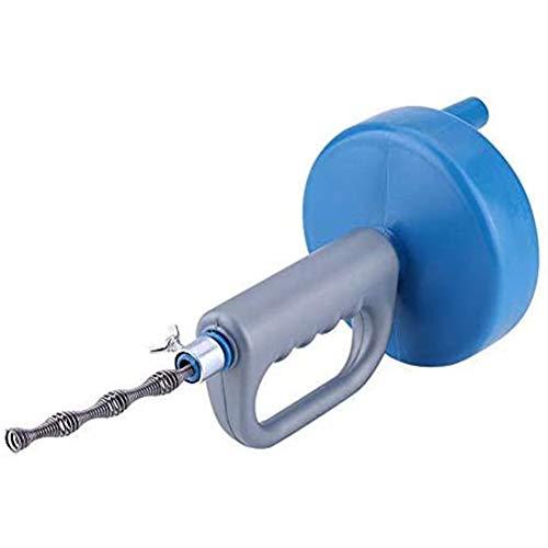 Cestbon più pulite Scarico Manuale bastoni Pulito Pozzi Neri Cleaner 10M Pulizia per Doccia WC Cucina Bacino del Bagno,Blu