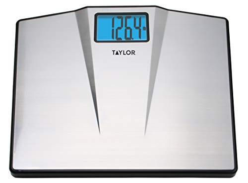 Taylor Precision Products Digital Bathroom Scale, Samsung, Silver