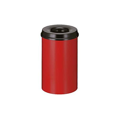 V-part selbstlöschender poubelle/corbeille à papier en métal gris 20 litres