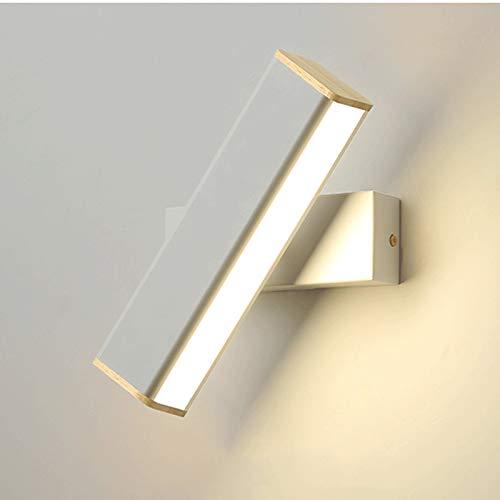 kerryshop Lámpara de Pared Accesorio de iluminación de Giro LED Barra de luz Moderna de baño 12.59 Pulgadas de Pared 6W 3000K Lampara de Pared Exterior (Color : White)