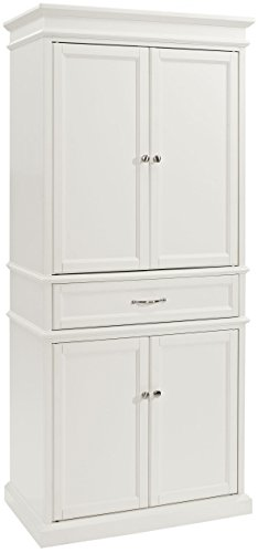 Crosley Furniture Parsons Pantry Cabinet, White