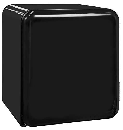 Exquisit Mini-Kühlschrank RKB 05-14 A+ sw | Retrostyle | 48 Liter | Gitterablage | Schwarz
