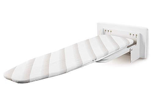 uyoyous Tabla de planchar de pared con cubierta resistente al calor - Mesa plegable giratoria 180 ° para montaje en pared plegable para ahorrar espacio