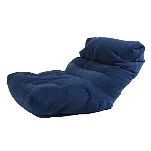 AGVER Sitzsackbezug Hohe Rückenlehne, Mondboot Form Sofabezug Hergestellt Aus Polyester-Lintergewebe, Ohne Füllung,Blau