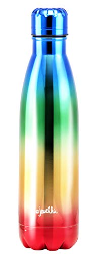 @Jewelchic Joy by House VIP DW-Insulated Stainless Steel 17oz/500ml Water Bottle (Joy Metallic Rainbow)