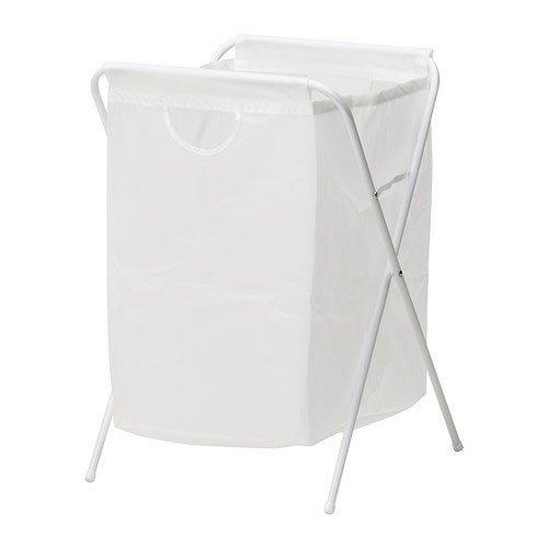 """IKEA Wäschesack \""""Jäll\"""" Wäschesammler 70 Liter - zusammenklappbar - transportabel - platzsparender Wäschebeutel - weiß"""
