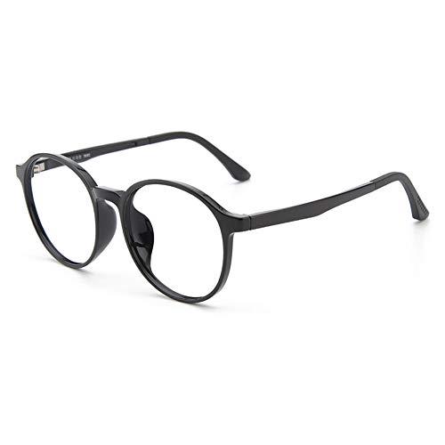 Vesmondo kinderbril blauw lichtfilter computerbril blauw lichtbril UV-bescherming rond retro zonder sterkte helder flexibel montuur frame met brillenkoker voor meisjes en jongens