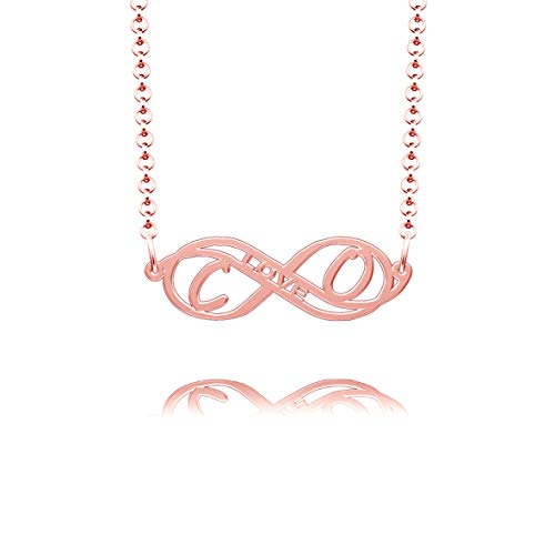 CLY Jewelry Rose Gold Plated Carden & Oden Necklace Names Custom Personalized Men Kay Oscar Jewelers Red