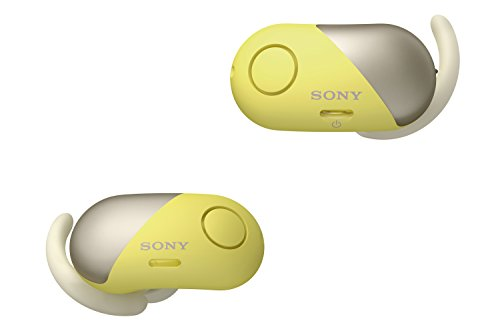 Sony Wireless Bluetooth In Ear Headphones: Noise Cancelling Sports Workout Ear Buds for Exercise and Running - Cordless, Sweatproof Sport Earphones, Built-In Microphone, EXTRA BASS Yellow WF-SP700N/Y
