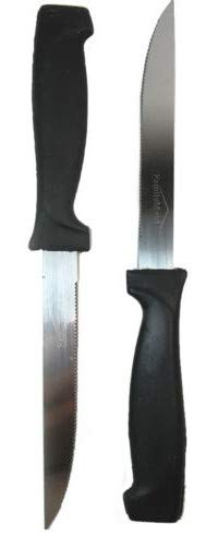 6 Piece Steak Knives Knife Set Kitchen Utensil Home Slice Cutlery Serrated Black