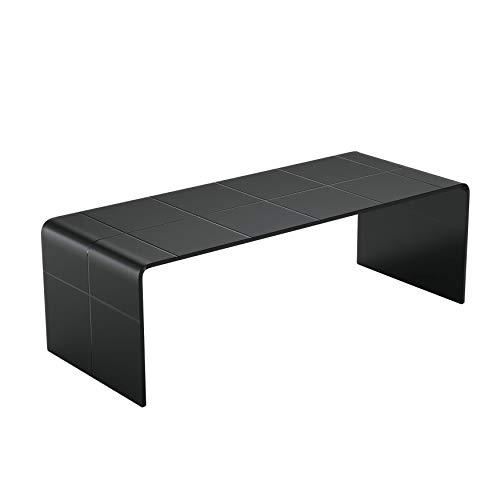 Mod. Schwarze Matte Höhle - Bended gekrümmte Glastisch