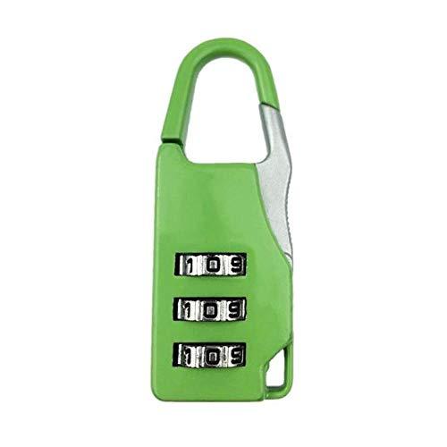 Cilinderslot 3 Wijzerplaat Digit Combinatie Wachtwoord Lock Zink Legering Veiligheid Reizen Kluis Koffer Bagage Gecodeerde Kast Kast Locker Hangslot Groen
