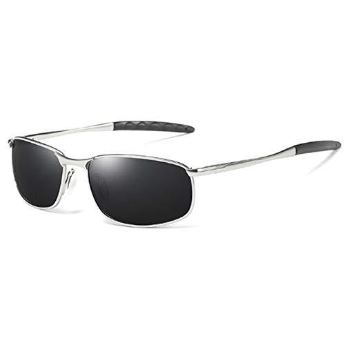 SASCD Gafas de Sol polarizadas Marco de Metal Cuadrado Classic Male Sunglass Hombres Que conducen Gafas de Sol UV400 (Lenses Color : 03)
