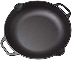 Victoria Seasoned Cast Iron Skillet Pan with Long Handle