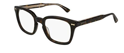Gucci, GG0184O Occhiali da vista Havana, 52