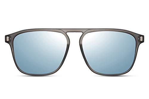 Cheapass Zonnebrillen Synthetische Pilotenbril met Platte Bovenkant en Open Brug UV400 Bescherming Heren Zonnebril