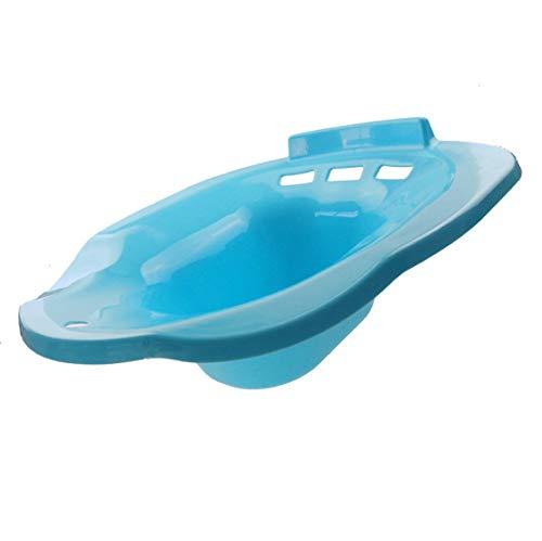 Mikelabo - Lavabo de baño para mujeres embarazadas, hemorroides, pacientes ancianos, evitar cuclillas, apto para inodoros universales, color azul, azul