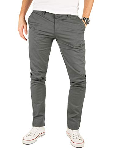 Yazubi Chino Hosen für Herren - Kyle by Yzb Jeans Slim fit - Graue Business Chinohosen Casual mit Stretch, Grau (Magnet 4R193901), W31/L32