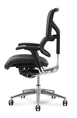 X Chair Office Desk Chair (X4 Black Brisa-No Headrest) Lumbar Support and Heavy Duty Rolling Wheels - Adjustable Arms, Comfy Executive Swivel Reclining Gaming Computer Chair Home