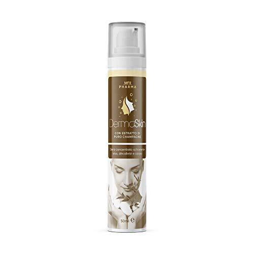 BCosmetica DermaSkin - Siero concentrato schiarente antimacchia viso, décolleté e corpo con estratto di puro champagne (50ml)