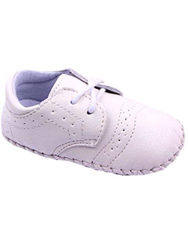 YICHUN Bébé Chaussures de Premier Pas Chaussures de Loisir Chaussures Souples Chausson à Lacet (Longueur de Semelle:13CM, Blanc)