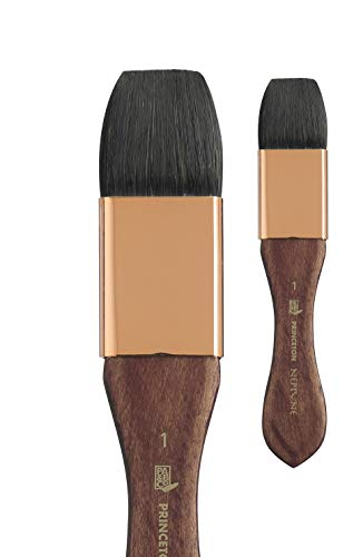 Princeton Artist Brush, Neptune Series 4750, Synthetic Squirrel Watercolor Paint Brush, Mottler, Size 1 Inch