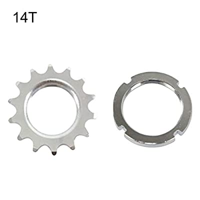 """kaaka 13/14/15/16/17/18T Fixed Gear Bicycle Track Single Speed 1/8"""" Cog Lock Ring for Mountain Bike Road Bike Universal Replacement Part Gear Accessory 16T"""