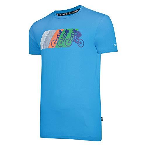 Dare 2b mannen dynamisme katoen geribde kraag grafische print T-Shirt