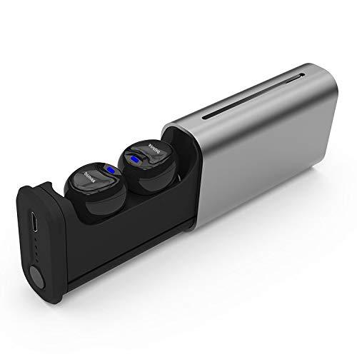 Auriculares TWS Earbuds Denver TWE-60 – Inalámbricos Bluetooth. Táctiles. Función Manos Libres. Micrófono Integrado. Estuche de Carga. hasta 4 Horas de conversación por Carga. Color Negro
