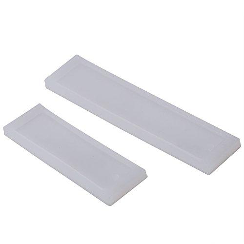Tyenaza DIY marcapáginas de Resina Molde Grande marcapáginas Molde Rectangular Molde de Silicona fabricación de Resina epoxi 2 unids/Set DIY