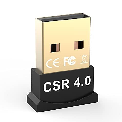 Yizhet Dongle USB Bluetooth Adaptateur Mini clé USB Bluetooth 4.0 avec Faible consommation d'énergie Plug and Play (Bluetooth 4.0)