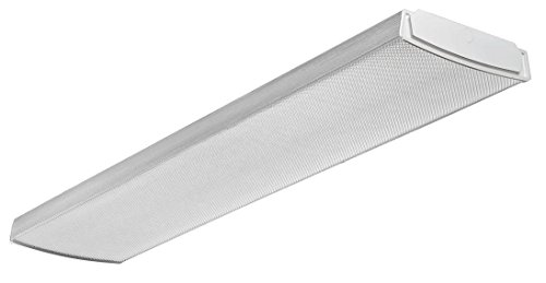 Lithonia Lighting, 4000K, LBL4 LP840 LED Curved Wraparound Ceiling Light Fixture, 4-Feet, 4000 Lumens, White, 4-Foot for Garage, Shop, Kitchen, and Office