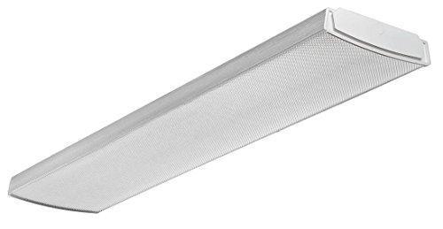 Lithonia Lighting LBL4 LP840 LED Curved Wraparound Ceiling Light, 4-Feet, 4000 Lumens, 4000K, White, 4-Foot