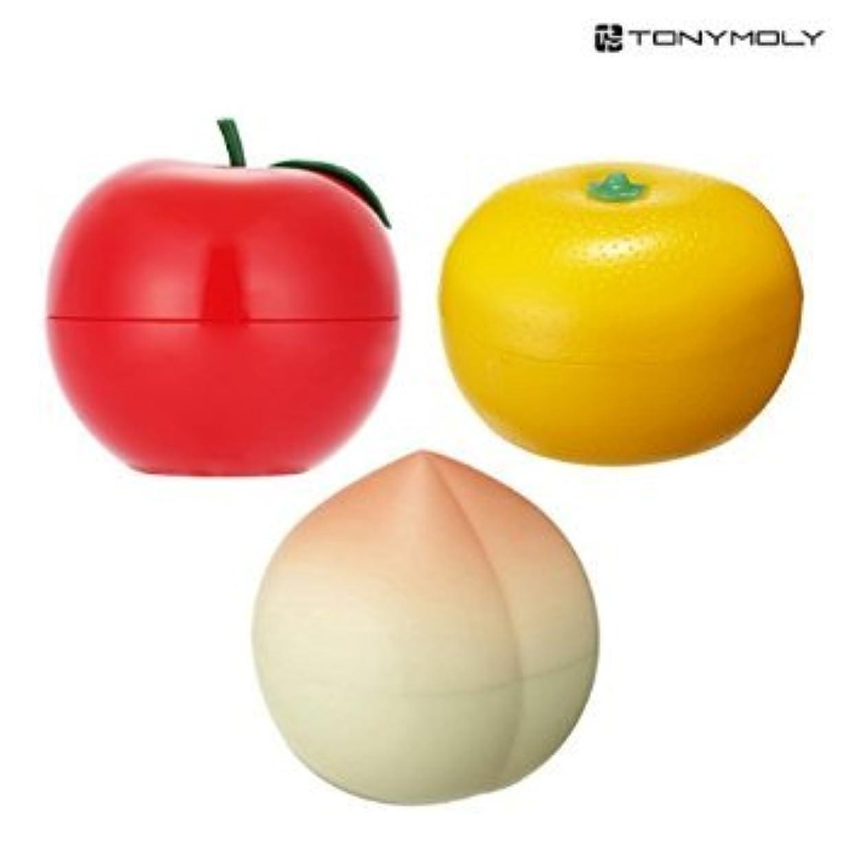 サンプルすすり泣きホールドTONYMOLY Fruit Hand Cream (3 Set (Red Apple + Tangerine + Peach))