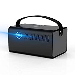 【2020 NOUVEAU V7 Projecteur】 [TOUMEI] Le video projecteur V7 DLP est livré avec une puissante puce d'affichage de 4200 lumens (600 ANSI), une ROM 2G améliorée et un flash 16G Nand Flash et l'image peut atteindre 350 pouces et fonctionne bien en class...