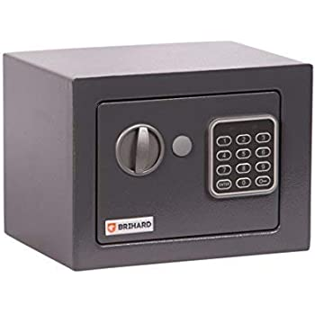 Brihard Junior Caja fuerte Electrónica, 17x23x17cm (HxWxD), Gris ...