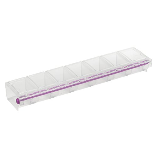 Craft Mates Bead Organizer and Plastic Storage Containers for Crafts, Buttons, Pins and More, 7 Locking Compartments, 2XL, Clear Lids