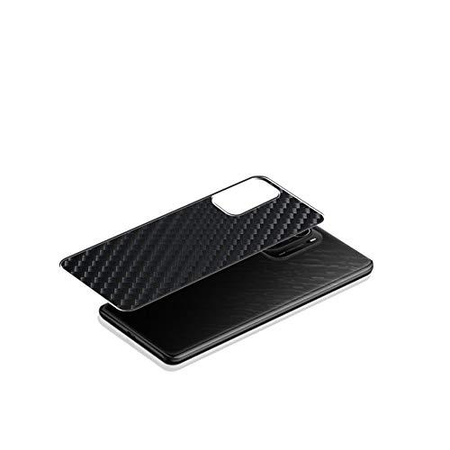 VacFun 2 Piezas Protector de pantalla Posterior, compatible con Xiaomi Redmi K40 Pro+, Película de Trasera de Fibra de carbono negra