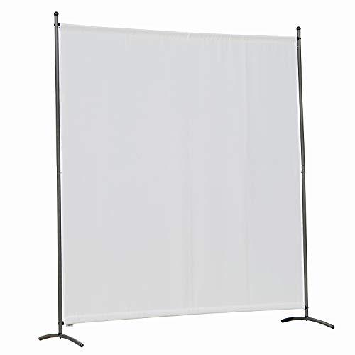 Angel Living Biombo Grande de 1 Panel, Decoración Elegante, Separador de Ambientes Plegable, Divisor de Habitaciones, 163X180 cm (Blanco)