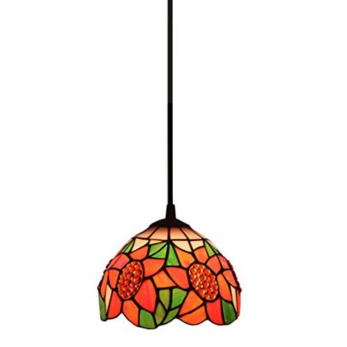 FAJOPQW Luz Colgante De Color De Una Sola Cabeza De Estilo Europeo Bohemia Retro Dormitorio Araña Luz De Techo para Restaurante Cocina Bar Mostrador Cubierta Pasillo Iluminación del Pasillo