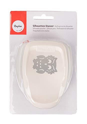 Rayher Hobby 69074000 Silhouetten-Stanzer, Eule, 3,5 x 4,5cm, geeignet für Papier/Karton bis zu 200g/m²