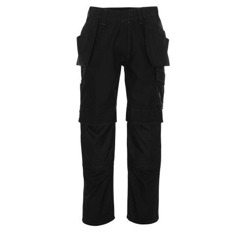Mascot - Pantalones de Trabajo modelo Springfield hombre caballero (Regular o Tall) (Cintura 77cm x Long/Negro)