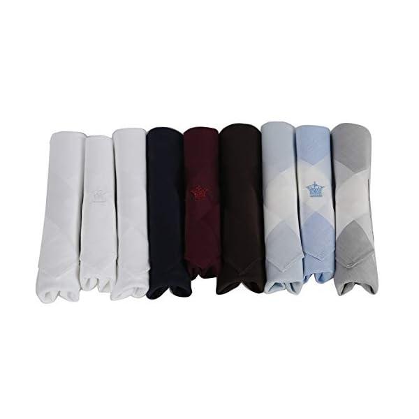 Louis Philippe Men's Cotton Handkerchiefs (Multicolour, Free Size) Pack of 9 1 31j0b DH+4L