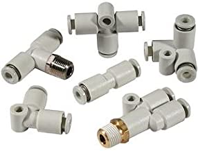 SMC KQ2H06-08A connectors - kq2 fitting family kq2 6mm - fitting, diff dia str union - package of 10